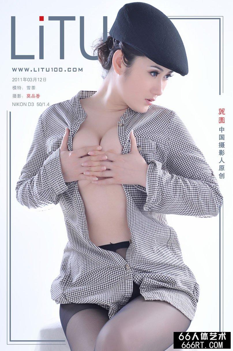 新美模雪茶11月3月12日棚拍黑丝人体