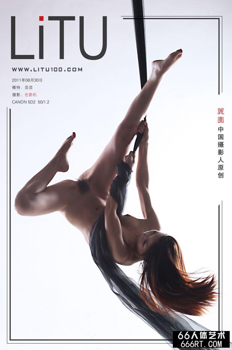 舞蹈超模芸芸棚拍高难度舞蹈动作