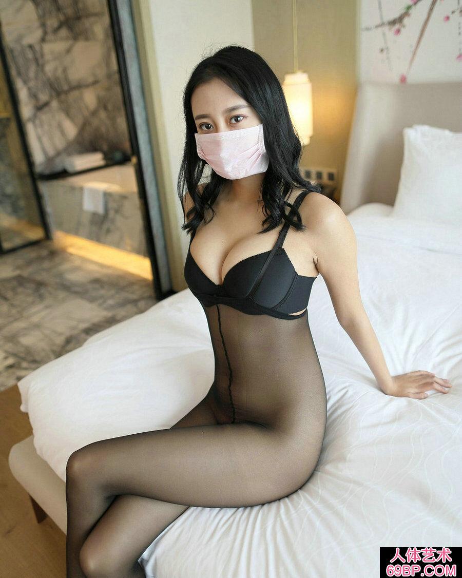 ROSI口罩NO.630妖娆黑内裤妹子居家无内黑丝写照